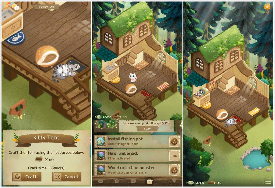Secret Cat Forest Review – A Cute Cat Simulation with Relaxing Graphics and Music-screenshot1
