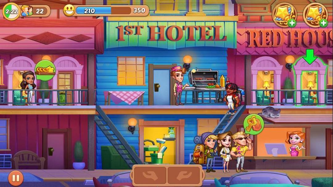 Hotel Craze: Grand Hotel Story Testbericht - Eine lässige und lustige Time-Waster-screenshot1
