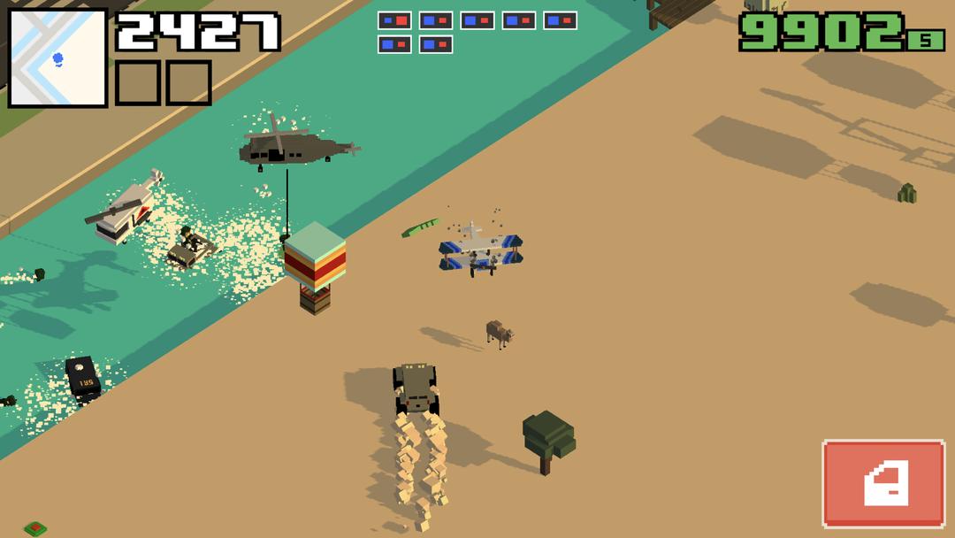 Smashy Road: Wanted 2 Review - An Addictive Police Car Chasing Simulation Game-screenshot2