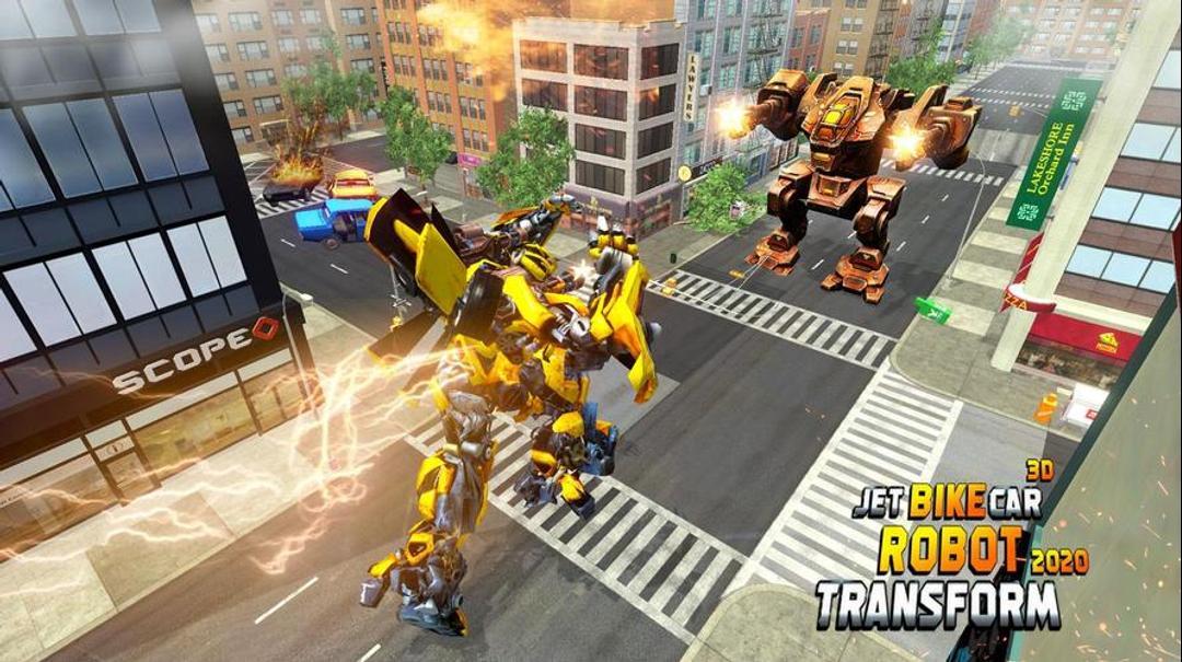 Jet Robot Car Transformation Robot Car Games Testbericht-screenshot2