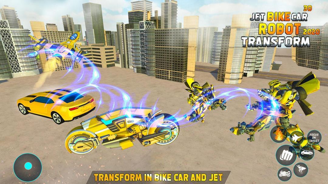 Jet Robot Car Transformation Robot Car Games Testbericht-screenshot1