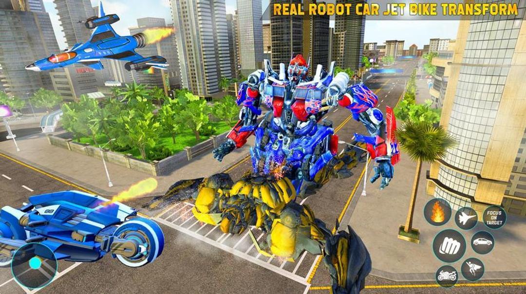Jet Robot Car Transformation Robot Car Games Testbericht-screenshot6